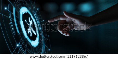 Technical Support Customer Service Business Technology Internet Concept. Royalty-Free Stock Photo #1119128867