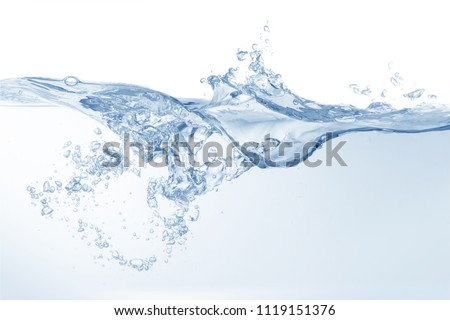 water splash isolated on white background ,beautiful splashes a clean water #1119151376