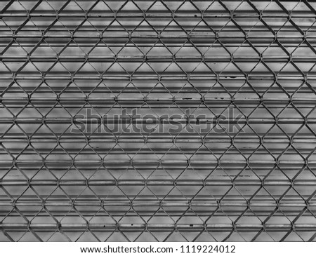 Abstract line pattern background ,a detail of curved metal ,Shutter metal rolling door  #1119224012