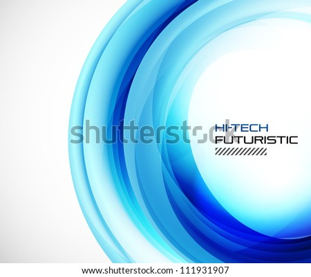 Abstract blue techno swirl background. Raster version of my vector illustration