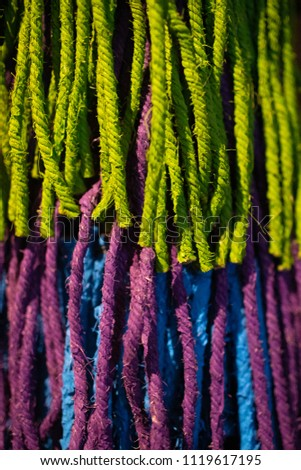 Close up colourful rope with pattern. #1119617195