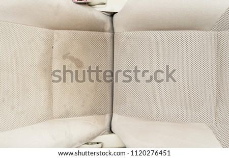 Detailing series, Dirty seat before and after cleaning. #1120276451