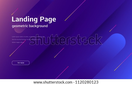 Minimal geometric background. Dynamic shapes composition. Eps10 vector. Royalty-Free Stock Photo #1120280123