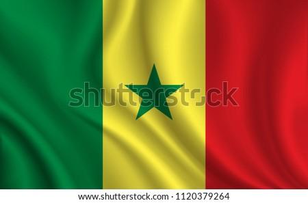 Senegal Flag background #1120379264