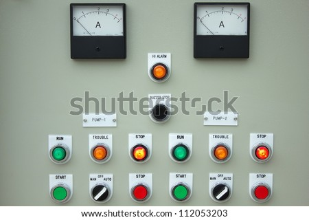 The fire control panel to manage the plant. Royalty-Free Stock Photo #112053203