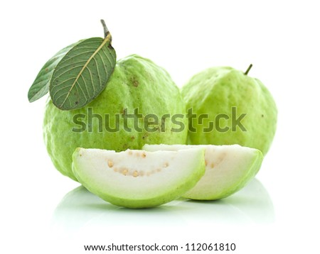 Guava (tropical fruit) on white background #112061810
