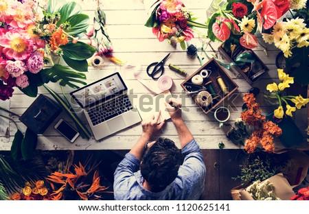 Business owner in flower shop #1120625141