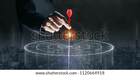 Targeting the business concept Royalty-Free Stock Photo #1120664918