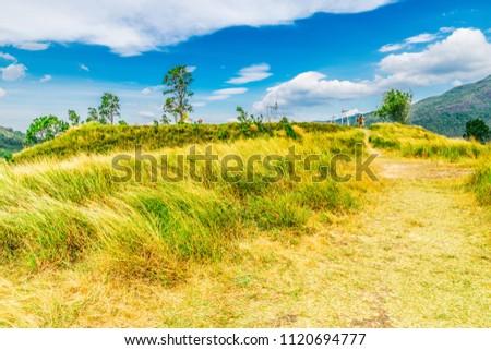 PHU KHAO YA (GRASS HILL) mountains in summer in Ranong, Thailand. #1120694777