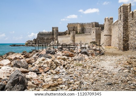 Historical Mamure castle in Anamur, Mersin, Turkey #1120709345