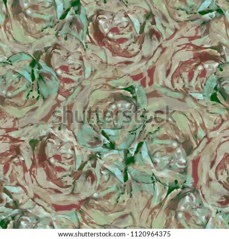 Rose on white background.  Flowers. Isolated. Stylization: watercolor.  #1120964375