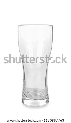 Empty glass for beer on white background #1120987763