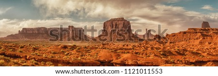 Landscape of Monument valley. Panoramic view. Navajo tribal park, USA. #1121011553