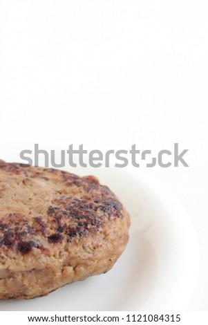 Plain hamburger steak #1121084315