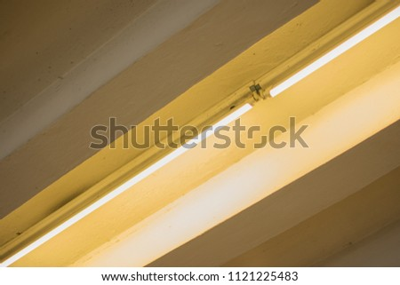 line of light on the light ceiling  #1121225483