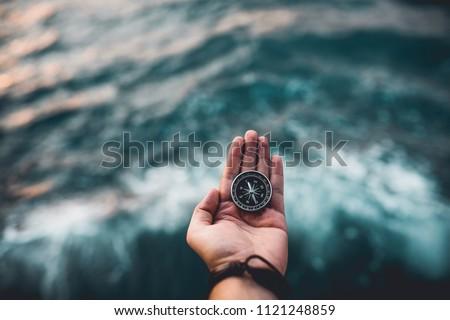 Compass, navigational compass, travel compass, lost compass, #1121248859