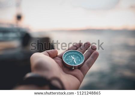 Compass, navigational compass, travel compass, lost compass, #1121248865