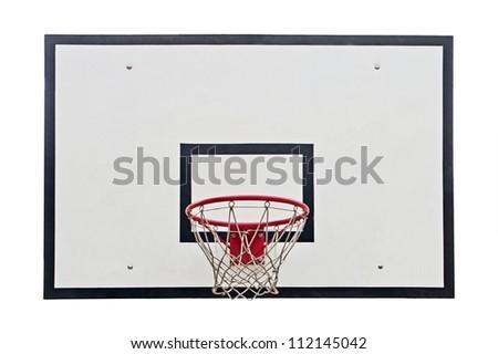 Basketball hoop on white background #112145042