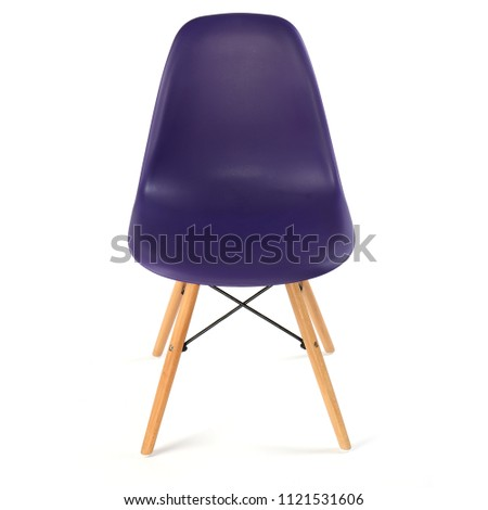 modern chair isolated on white background #1121531606