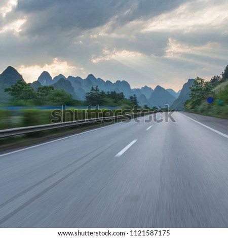 Sunset at Guilin Highway #1121587175