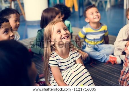 Happy kids at elementary school #1121716085