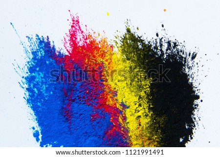 CMYK Toner mixed #1121991491