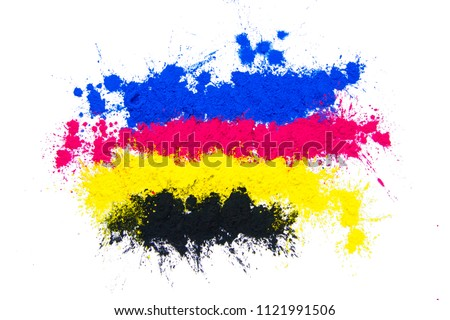 CMYK Toner mixed #1121991506