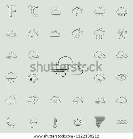 wind sign icon. Detailed set of Weather icons. Premium quality graphic design sign. One of the collection icons for websites, web design, mobile app on colored background #1122138212