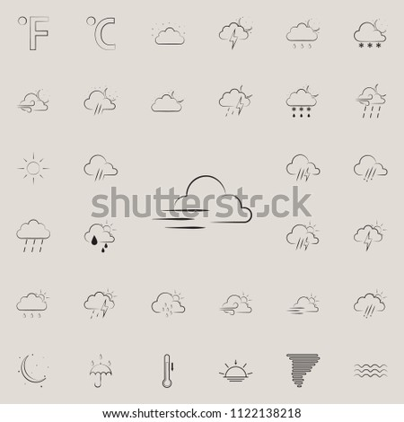 storm weather sign icon. Detailed set of Weather icons. Premium quality graphic design sign. One of the collection icons for websites, web design, mobile app on colored background #1122138218