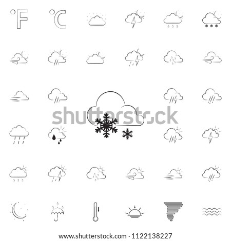 sign weather big snow icon. Detailed set of Weather icons. Premium quality graphic design sign. One of the collection icons for websites, web design, mobile app on colored background #1122138227