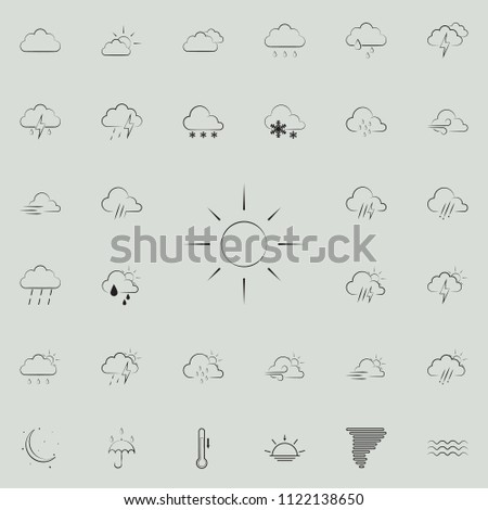 sign sunny weather icon. Detailed set of Weather icons. Premium quality graphic design sign. One of the collection icons for websites, web design, mobile app on colored background #1122138650