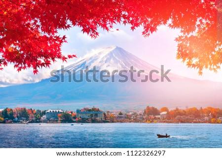 Autumn at Fuji mountain in Japan #1122326297