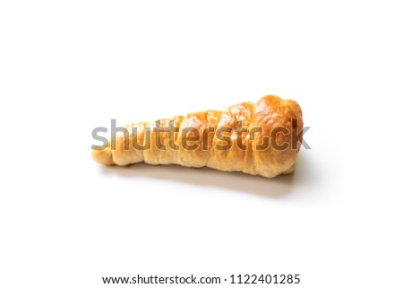 Baking horn bread  isolated on white background #1122401285