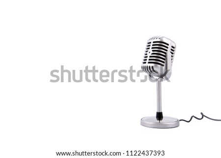 Retro microphone isolated on white background #1122437393