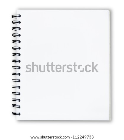 blank notebook isolate with clipping path #112249733