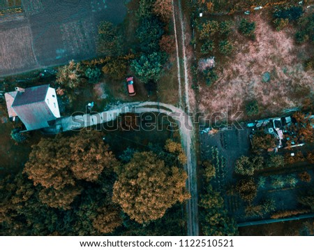 Beautiful landscape from above #1122510521