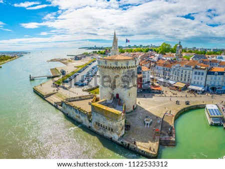 Seaside of La Rochelle dominated by Tour de la Lanterne and tour de la chaine, France #1122533312