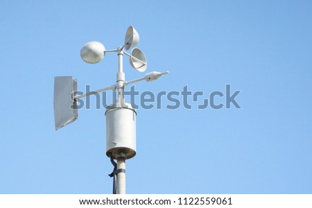Wind vanes with blue sky background #1122559061