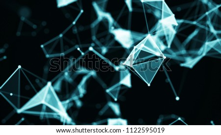 Abstract digital background. Big data visualization. Network connection structure. Science background. #1122595019
