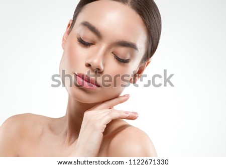 Asian beauty eyes woman cosmetic skincare concept #1122671330