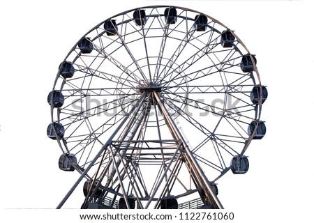 Ferris wheel on white background Royalty-Free Stock Photo #1122761060
