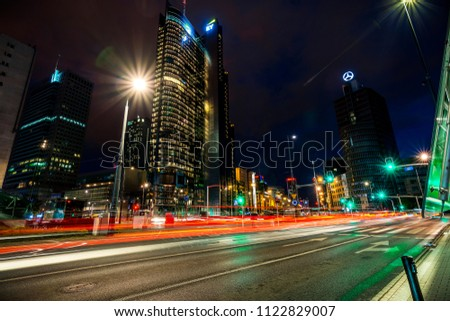 City at night time #1122829007