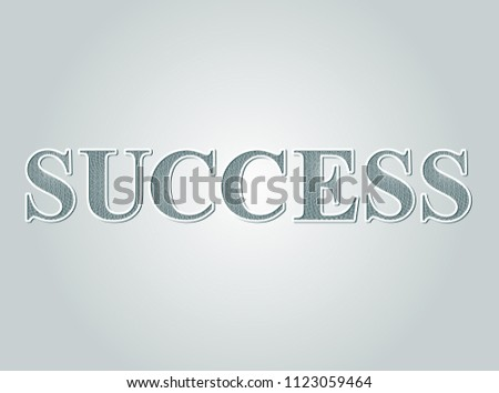 Business concept Success text guilloche pattern certificate style. Vector illustration. #1123059464
