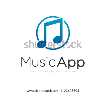 Music Note Logo Design Template Vector #1123605503