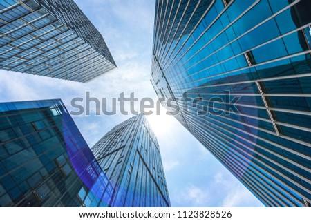 modern office building in urban #1123828526