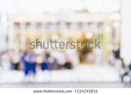 Abstract bokeh and blur beautiful luxury shopping mall for background #1124243816