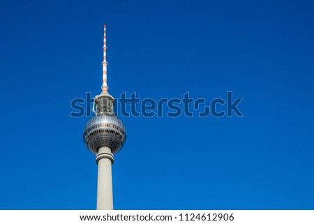 The TV Tower located on the Alexanderplatz in Berlin, Germany #1124612906