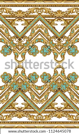 golden baroque ornament #1124645078