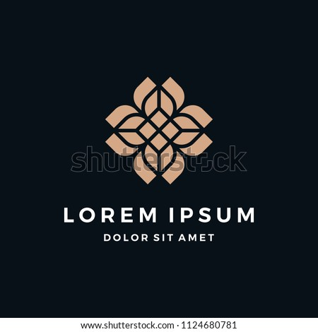 Elegant Abstract Decorative Floral Logo Design #1124680781