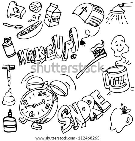 An image of a good morning drawing set.